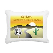 not lost Rectangular Canvas Pillow