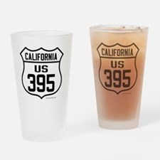 US Route 395 - California Drinking Glass