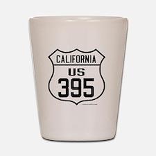 US Route 395 - California Shot Glass