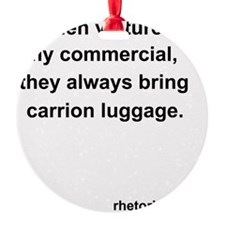 Vultures on a Plane Ornament