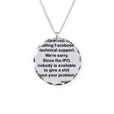 Facebook Support Necklace
