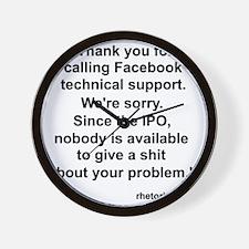 Facebook Support Wall Clock