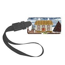 Christmas Cottage Luggage Tag