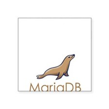 "Supporting MariaDB Square Sticker 3"" x 3"""