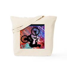 BMX on Rusty Grunge Tote Bag