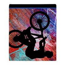 BMX on Rusty Grunge Throw Blanket