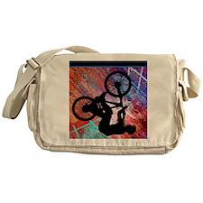 BMX on Rusty Grunge Messenger Bag