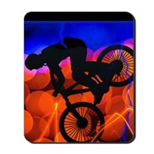 BMX in Light Crystals and Lightning Mousepad