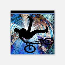 "BMX in a Grunge Tunnel Square Sticker 3"" x 3"""