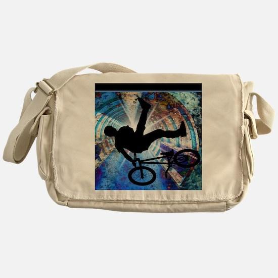 BMX in a Grunge Tunnel Messenger Bag