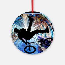 BMX in a Grunge Tunnel Round Ornament