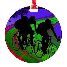 Cycling Trio on Ribbon Road Ornament