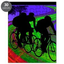 Cycling Trio on Ribbon Road Puzzle