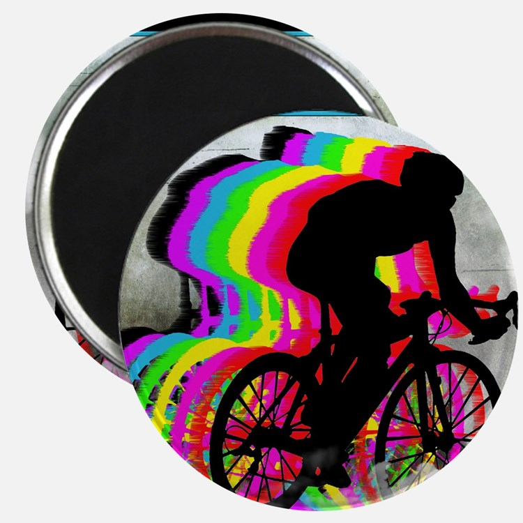 Cyclists Cycling in the Clouds Magnet