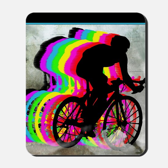 Cyclists Cycling in the Clouds Mousepad