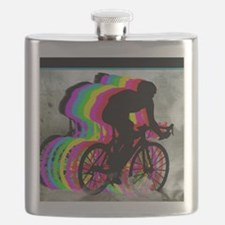 Cyclists Cycling in the Clouds Flask