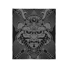 Samurai Rising Throw Blanket
