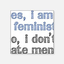 "Feminist Square Sticker 3"" x 3"""