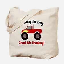 Monster Truck 2nd Birthday Tote Bag