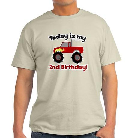Monster Truck 2nd Birthday Light T-Shirt
