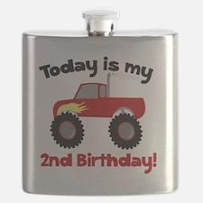 Monster Truck 2nd Birthday Flask