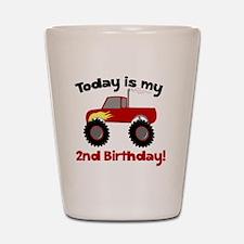 Monster Truck 2nd Birthday Shot Glass