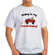 Little Red Wagon 2nd Birthday T-Shirt