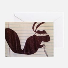 Ninja Squirrel Greeting Card