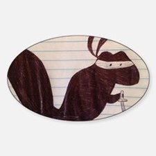 Ninja Squirrel Sticker (Oval)