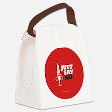 Hypo-Derrick - Just Say No Canvas Lunch Bag