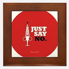 Hypo-Derrick - Just Say No Framed Tile