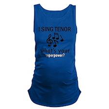 I Sing Tenor Maternity Tank Top