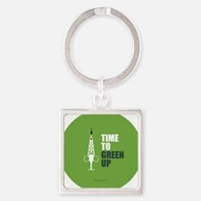 Hypo-Derrick - Time to Green Up Square Keychain