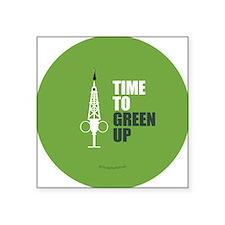 "Hypo-Derrick - Time to Gree Square Sticker 3"" x 3"""