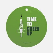 Hypo-Derrick - Time to Green Up Round Ornament