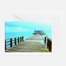Cool Rod & Reel Pier Greeting Card