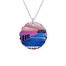 Pink and blue Rod & Reel Pie Necklace