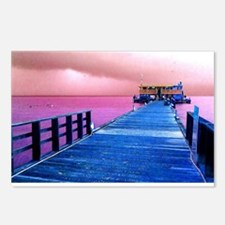 Pink and blue Rod & Reel  Postcards (Package of 8)