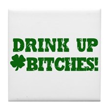 Drink up this Saint Patrick's Day Tile Coaster