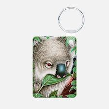 Koala Munching Panel Print Keychains