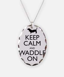 Keep Calm and Waddle On Necklace