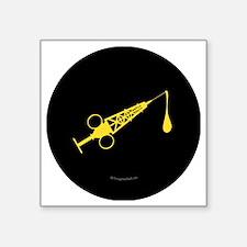 """Hypo-Derrick (Yellow/Black) Square Sticker 3"""" x 3"""""""