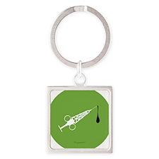 Hypo-Derrick (White/Green) Square Keychain