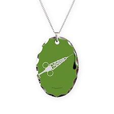 Hypo-Derrick (White/Green) Necklace