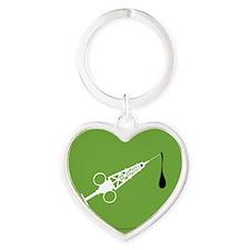 Hypo-Derrick (White/Green) Heart Keychain