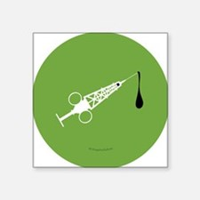 "Hypo-Derrick (White/Green) Square Sticker 3"" x 3"""
