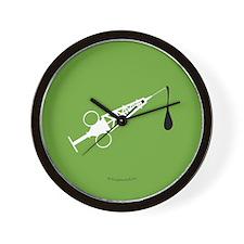 Hypo-Derrick (White/Green) Wall Clock
