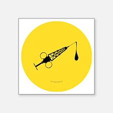 """Hypo-Derrick (Black/Yellow) Square Sticker 3"""" x 3"""""""
