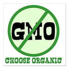 """Say No to GMO Square Car Magnet 3"""" x 3"""""""