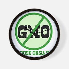 Say No to GMO Wall Clock